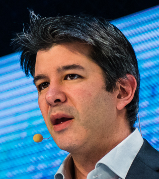 Travis Kalanick at some tech thing talking about himself like they do