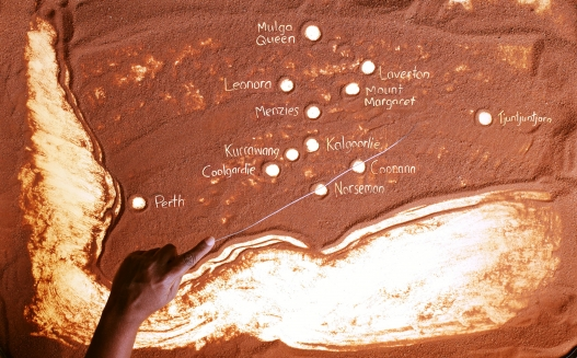 Sand Map Of Goldfields/Western Desert Kidney Project
