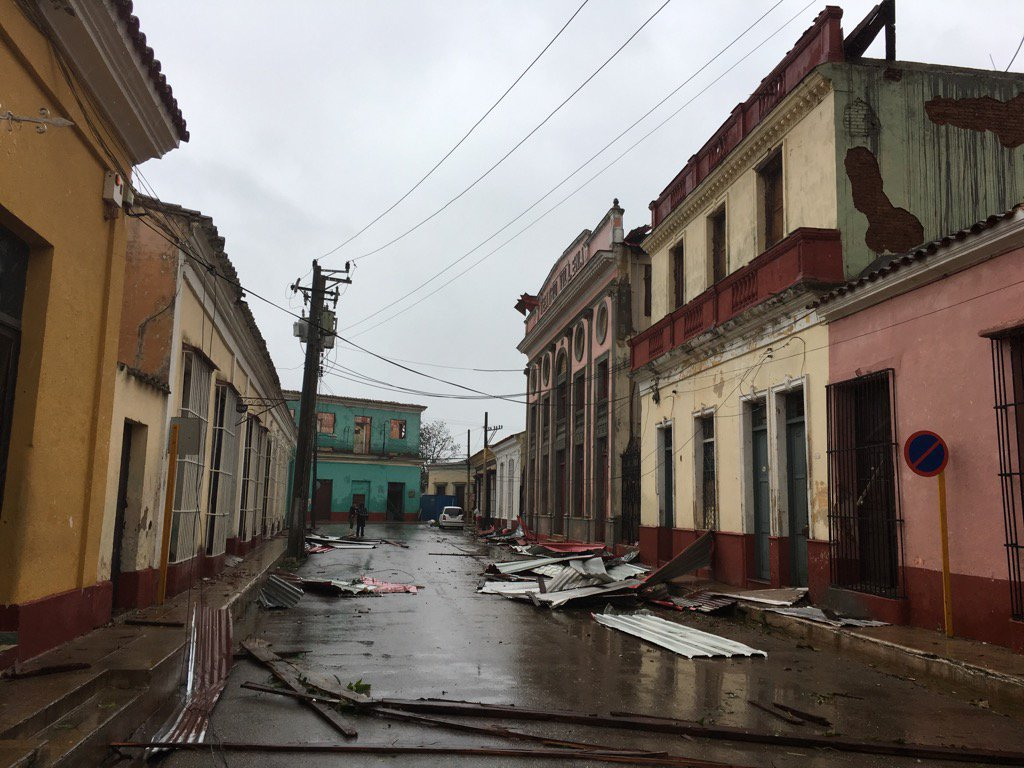 Roofs off in Remedios, Cuba