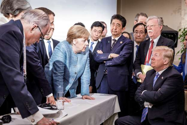 Just another day at the G7