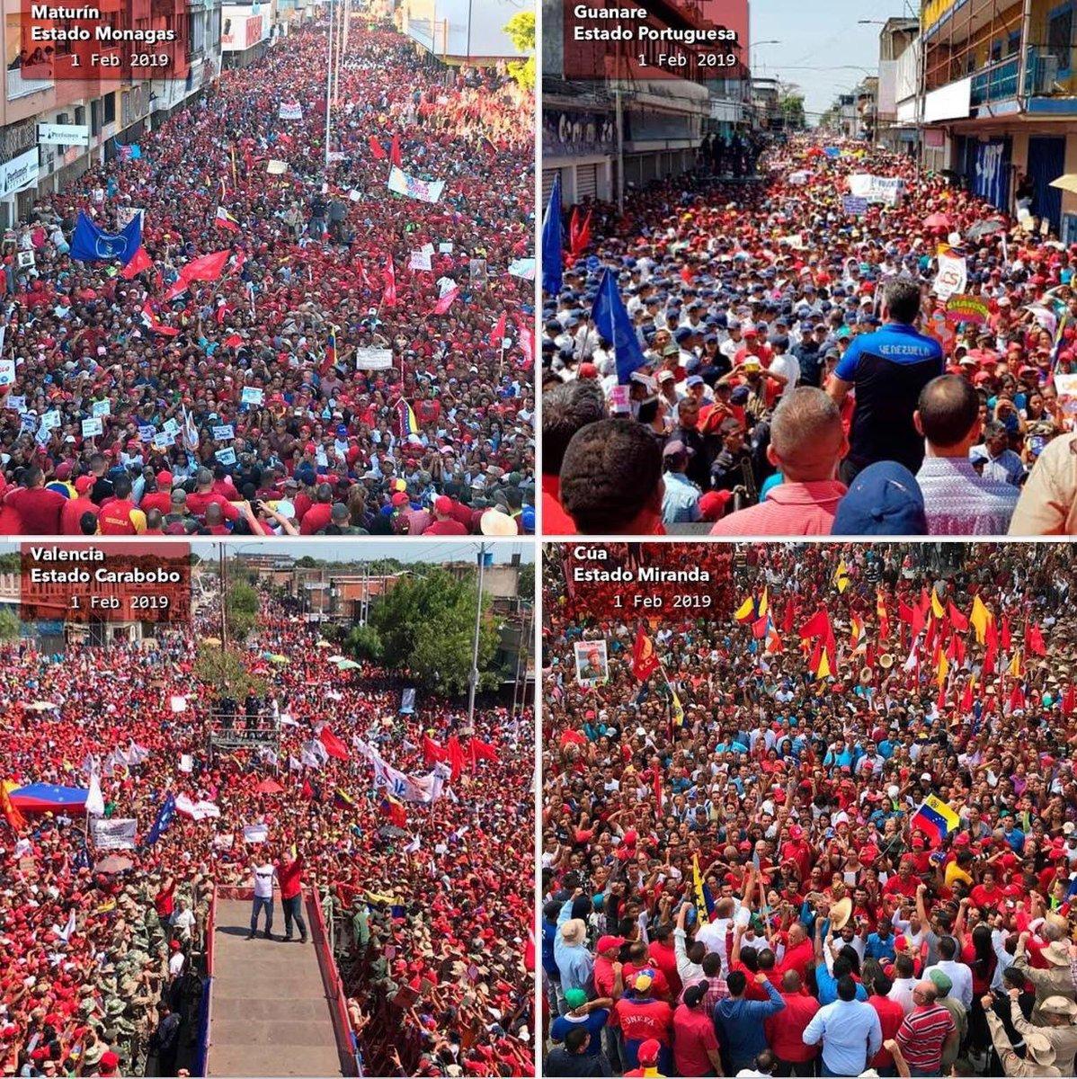 Maturin, Guanare, Valencia, y Cua, Venezuela