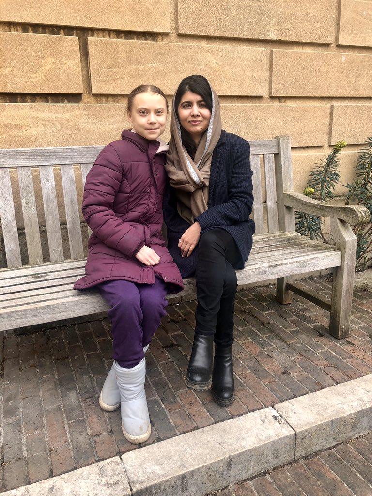 Greta Thunberg, Malala Yousafzai